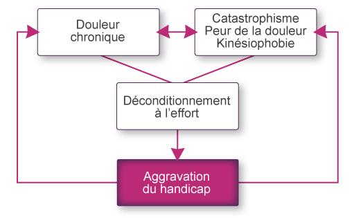 Les mécanismes du déconditionnement cardio - vasculaire à l'effort induit par les anomalies psychologiques.
